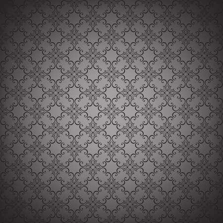 バロック様式のスタイルで花のシームレスな壁紙。背景やページの塗りつぶし web デザインに使用できます。ベクトルの図。