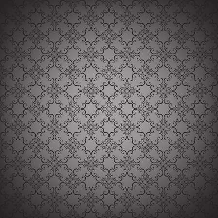 gray pattern: Floral seamless wallpapers in the style of Baroque . Can be used for backgrounds and page fill web design. Vector illustration. Illustration