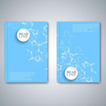 informe: Abstracto moderno diseño folleto, revista, folleto, folleto, cubierta o informe de tamaño A4 para su diseño. Ilustración del vector. Vectores
