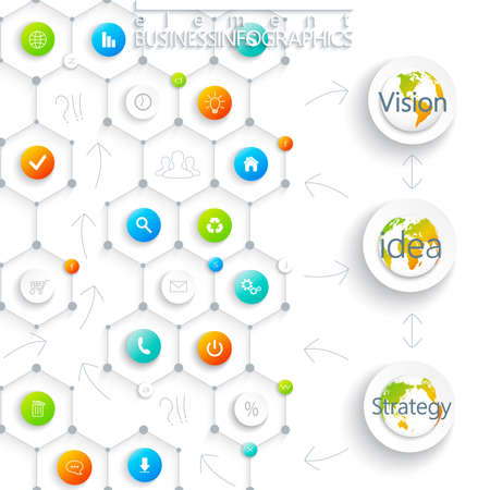 Modern infographic template. Can be used for workflow layout, diagram, chart, number options, web design. Vector illustration. Vector