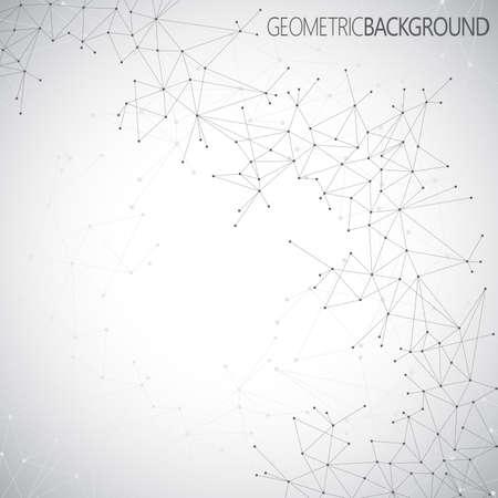 分子幾何学的な灰色の背景とあなたのデザインのためのコミュニケーション。ベクトルの図。  イラスト・ベクター素材