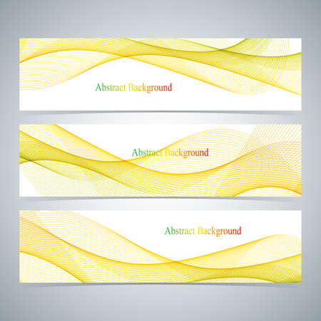 curve line: Abstract set of colorful banners with curved lines.