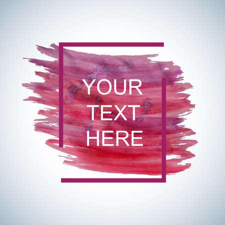 Kleurrijke waterverfachtergrond met een kader rond de randen en de plaats voor uw tekst.
