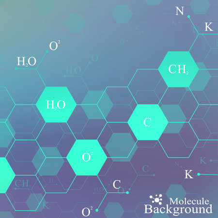 vector graphic: Dna molecule on blue background. Graphic background for your design and text. Vector Illustration. Illustration