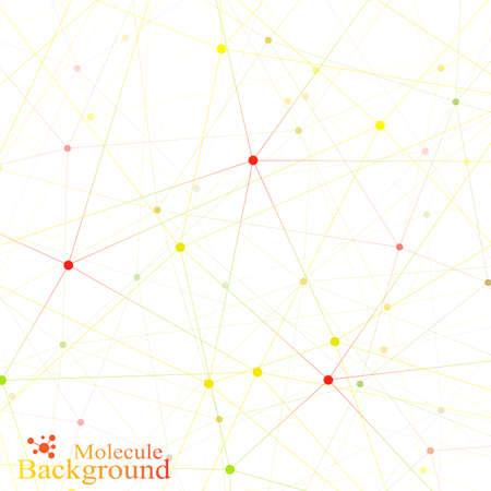 Bunte Grafik Hintergrund Molekül und Kommunikation. Anschlüsse Punkte mit Linien für Ihren Entwurf. Vektor-Illustration. Standard-Bild - 46551861