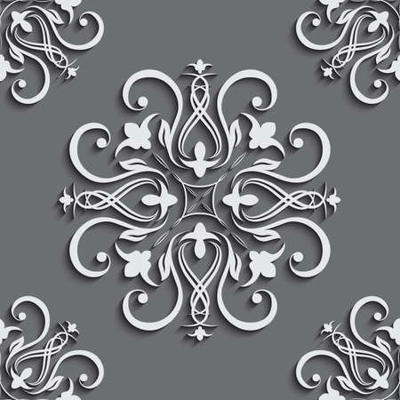 fill fill in: Seamless wallpapers in the style of Baroque . Can be used for backgrounds and page fill web design.