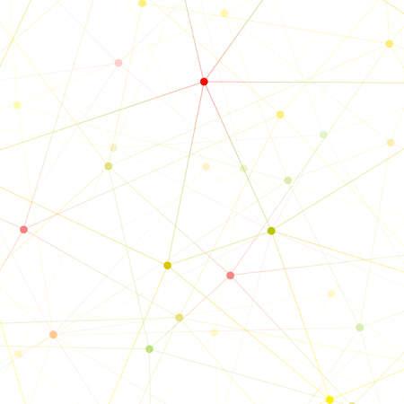 Bunte Grafik Hintergrund Molekül und Kommunikation. Verbunden Linien mit Punkten. Vektor-Illustration. Standard-Bild - 46551904
