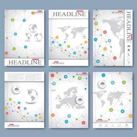 Moderne Vektor Reihe von Broschüren, Zeitschriften, Flyer, Broschüre, Cover oder Bericht im A4-Format. Business-Design. Standard-Bild - 47408559