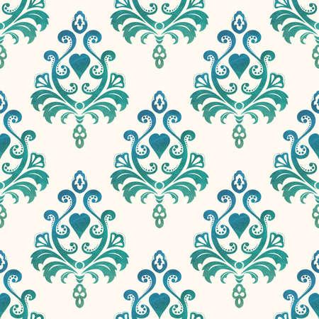 バロック様式のスタイルで水彩のシームレスな壁紙