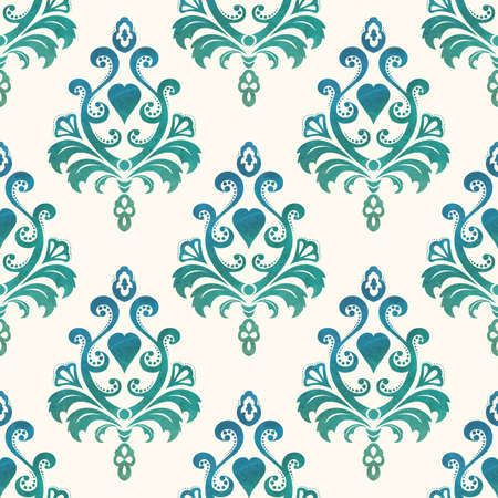 seamless damask: Watercolor seamless wallpapers in the style of Baroque Illustration