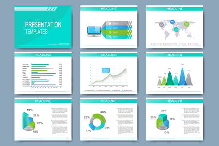 set of vector templates for multipurpose presentation slides, Presentation templates