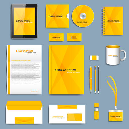 Set of vector corporate identity template. Modern business design. Illustration