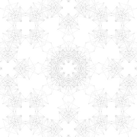 network connections: Geometric seamless grid consisting of points with lines. Vector illustration. Illustration
