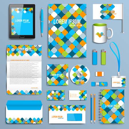 personalausweis: Set von Vektor-Corporate-Identity-Vorlage. Moderne Geschäftsdrucksachen Mock-up-Design.