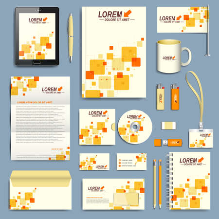 Set of vector corporate identity template. Modern business stationery design.