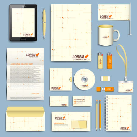 corporative: Set of corporate identity template. Modern business stationery design.