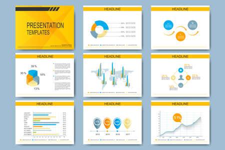 Set Of Vector Templates For Presentation Slides. Modern Business ...