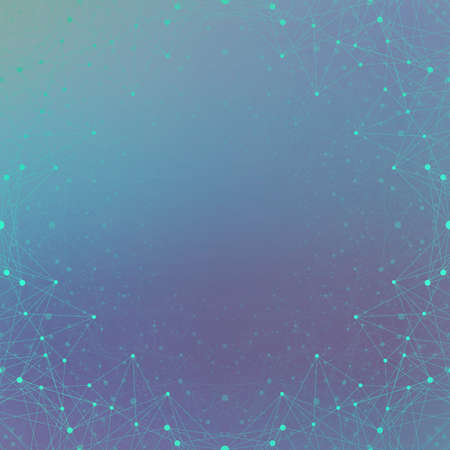 Futuristic technology background molecule and communication. Connected lines with dots. Vector illustration.