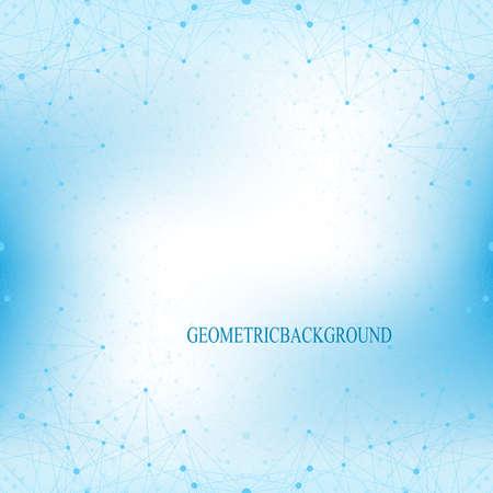 Geometrische blauem Hintergrund Molekül und Kommunikation. Verbunden Linien mit Punkten. Vektor-Illustration. Standard-Bild - 51682325
