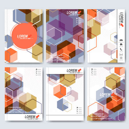 brochure cover: Modern vector templates for brochure, flyer, cover magazine or report in A4 size. Business, science, medicine and technology design . Vector illustration. Illustration