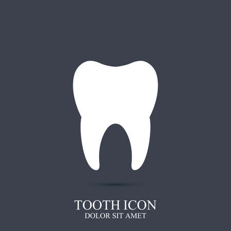 oral care: Tooth vector icon template. Medical design. Dentist office icon. Oral care dental  clinic .