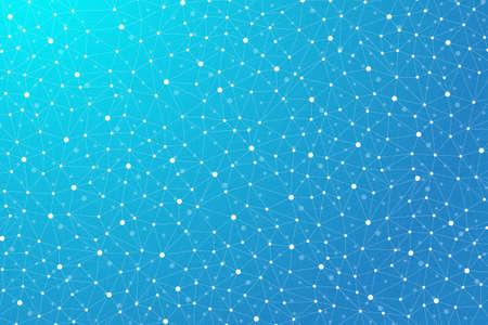 Fondo abstracto geométrico con la línea conectada y puntos. gráfico de fondo para su diseño. Ilustración del vector.