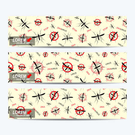 aedes: Zika virus of vector banners. Zika virus background . Web banners, card, vip, certificate. gift. Aedes Aegypti pattern. Zika mosquito vector illustration.