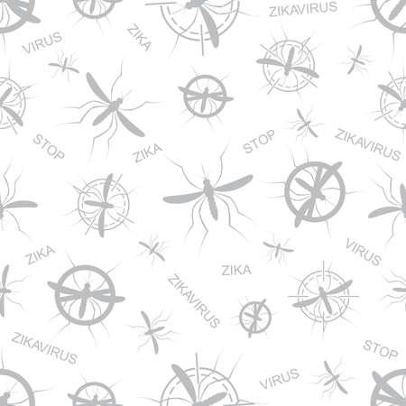aedes: Zika virus seamless pattern. Aedes Aegypti seamless pattern texture background.