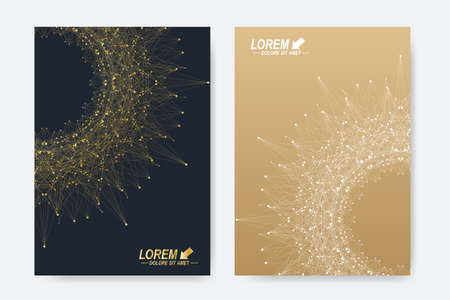 report form: Modern vector templates for brochure, Leaflet, flyer, cover, magazine or annual report in A4 size. Business, science, medicine and technology design book layout. Abstract presentation with round form.