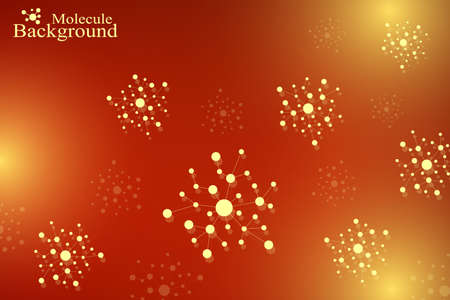 Structure molecule atom dna and communication background. Concept of neurons. Connected lines with dots. Illusion nervous system. Medical scientific illustration backdrop Illustration
