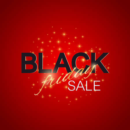 Black Friday Sale background. Promotional banner design.  illustration Illustration