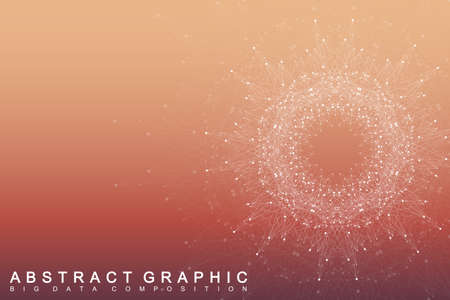 covalent: Geometric graphic background molecule and communication. Big data complex with compounds. Perspective backdrop. Minimal array Big data. Digital data visualization. Scientific vector illustration