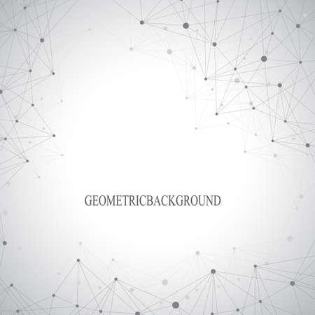 scientific: Geometric graphic background molecule and communication. Big data complex with compounds. Perspective backdrop. Minimal array Big data. Digital data visualization. Scientific vector illustration
