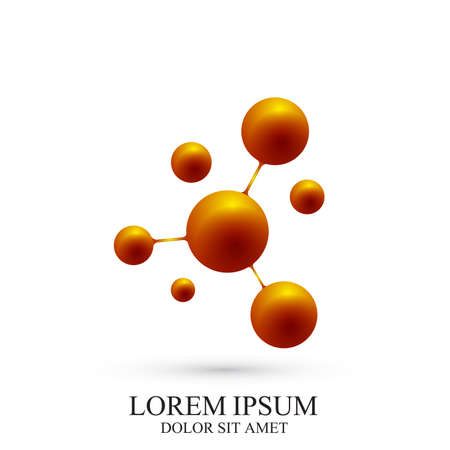subsidiary: Modern icon dna and molecule. Illustration