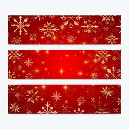 invitation cards surface modern happy new year set of vector banners christmas background design templates with snowflakes
