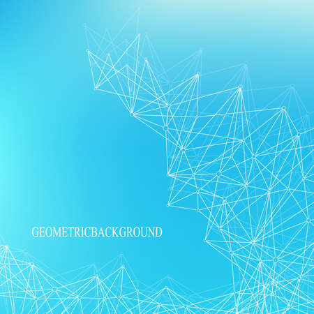Big data complex. Graphic abstract background communication. Perspective backdrop of depth. Minimal array with compounds lines and dots. Digital data visualization. Vector illustration Big data.