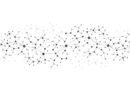 Modern Structure Molecule DNA. Atoom. Molecuul en communicatie achtergrond voor de geneeskunde, wetenschap, technologie, chemie. Medisch wetenschappelijke achtergrond. Stock Illustratie
