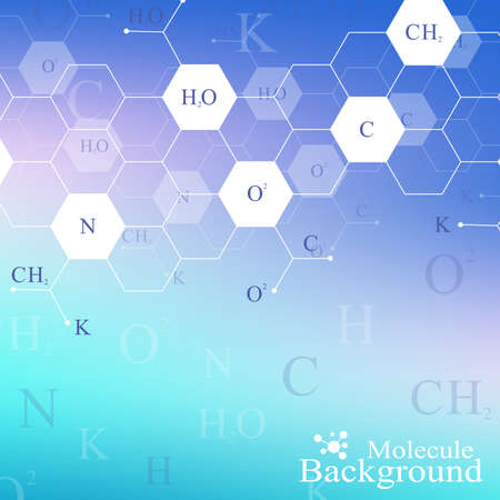 science scientific: Scientific hexagonal chemistry pattern. Structure molecule DNA research as concept. Science and technology background communication. Medical scientific backdrop for your design. Vector Illustration.