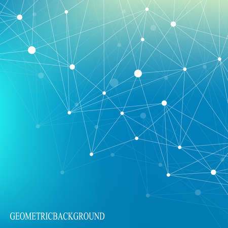 Geometric graphic background molecule and communication. Scientific cybernetic vector illustration. Illustration
