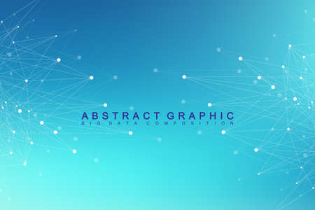 Scientific chemistry pattern. Structure molecule DNA research as concept. Science and technology background communication. Medical scientific backdrop for your design. Vector Illustration. Illustration