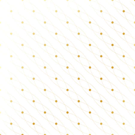 wire mesh: Golden texture. Geometric seamless pattern with connected lines and dots. Lines plexus circles. Graphic background connectivity. Modern stylish backdrop for your design. Vector illustration