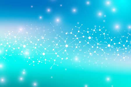 Estructura moderna molécula de ADN. Átomo. Molécula y la comunicación de fondo para la medicina, la ciencia, la tecnología, la química. telón de fondo científica médica