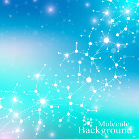 subsidiary: Modern Structure Molecule DNA. Atom. Molecule and communication background for medicine, science, technology, chemistry. Medical scientific backdrop Illustration