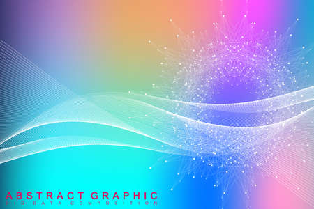 Science and technology background for your design. 矢量图像