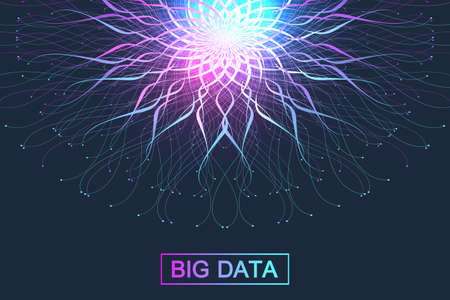 Big data-illustratie. Grafische abstracte achtergrondcommunicatie.