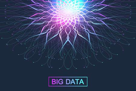 Big data illustration. Graphic abstract background communication. Vettoriali