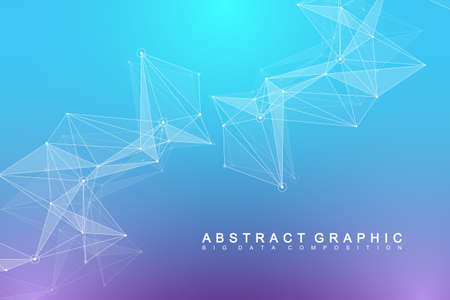 Global network connection. Network and big data visualization background. Futuristic global business. Vector Illustration. Stock fotó - 97559872