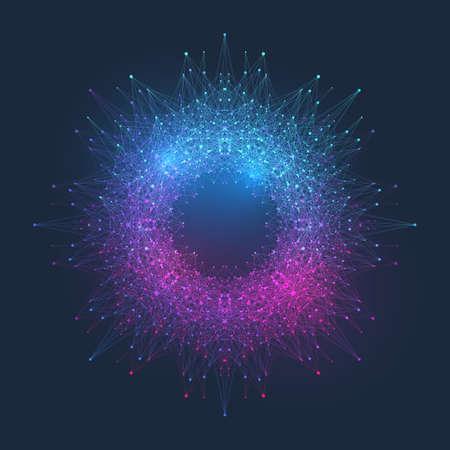 Modern Structure Molecule DNA. Atom. Molecule and communication background for medicine, science, technology, chemistry. Medical scientific backdrop. 向量圖像