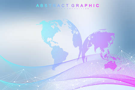 Abstract cloud computing background and networks concept with earth globes. 向量圖像