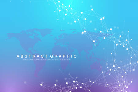 Geometric graphic background artificial intelligence. Turbulence flow trail.